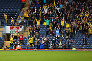 Tom Naylor of Burton Albion celebrates after scoring the forth goal of the game to make it 2-2 during the EFL Sky Bet Championship match between Blackburn Rovers and Burton Albion at Ewood Park, Blackburn, England on 20 August 2016. Photo by Simon Brady.