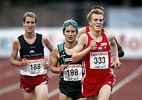 Friidrett, , 20. august  2010 , NM senior , hovedmesterskapet <br /> <br /> Bjørnar Ustad Kristensen , vinner 5000 m. til høyre: Sondre Nordstad Moen , Vidar
