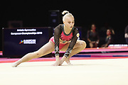Angelina Melnikova (Russia) in the team floor contestduring the European Championships Glasgow 2018, Women's Artistic Gymnastics , Team Final at The SSE Hydro in Glasgow, Great Britain, Day 3, on August 4, 2018 - Photo Laurent Lairys / ProSportsImages / DPPI