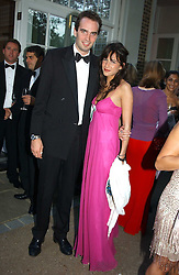 FRITZ VON WESTENHOLTZ and CAROLINE SIEBER at the Game Conservancy Jubilee Ball in aid of the Game Conservancy Trust held at The Hurlingham Club, London SW6 on 26th May 2005<br /><br />NON EXCLUSIVE - WORLD RIGHTS