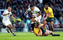 Nathan Hughes of England runs with the ball - Mandatory by-line: Robbie Stephenson/JMP - 03/12/2016 - RUGBY - Twickenham - London, England - England v Australia - Old Mutual Wealth Series