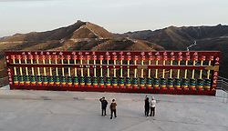 November 1, 2018 - Handan, Handan, China - Handan, CHINA-The 5-meter-tall abacus made of 210 tyres can be seen in Handan, north China's Hebei Province. (Credit Image: © SIPA Asia via ZUMA Wire)