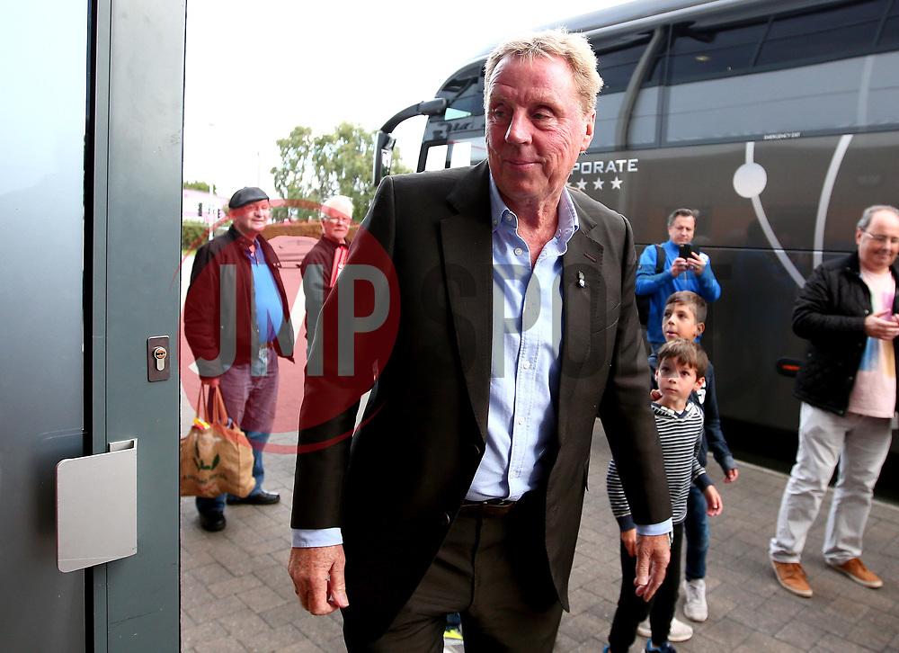 Birmingham City manager Harry Redknapp arrives at the Pirelli Stadium for the fixture against Burton Albion - Mandatory by-line: Robbie Stephenson/JMP - 18/08/2017 - FOOTBALL - Pirelli Stadium - Burton upon Trent, England - Burton Albion v Birmingham City - Sky Bet Championship