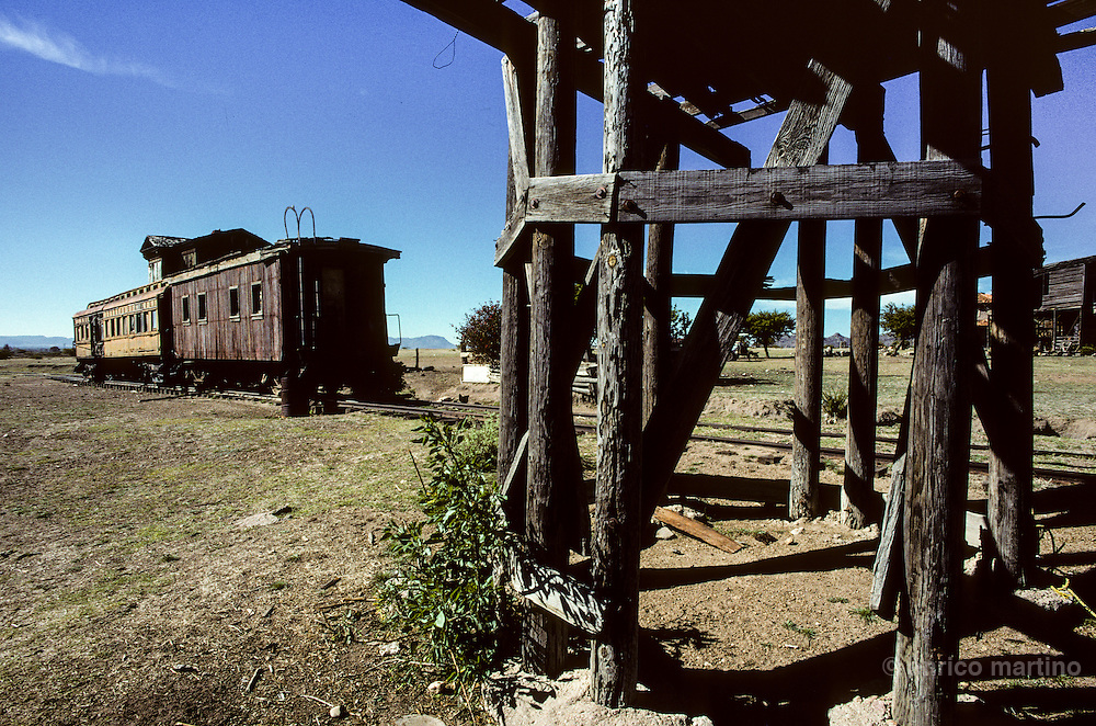 "Durango, ""La Joya"" ranch, once owned by John Wayne, utilised for many western movies. The western train of John Wayne."