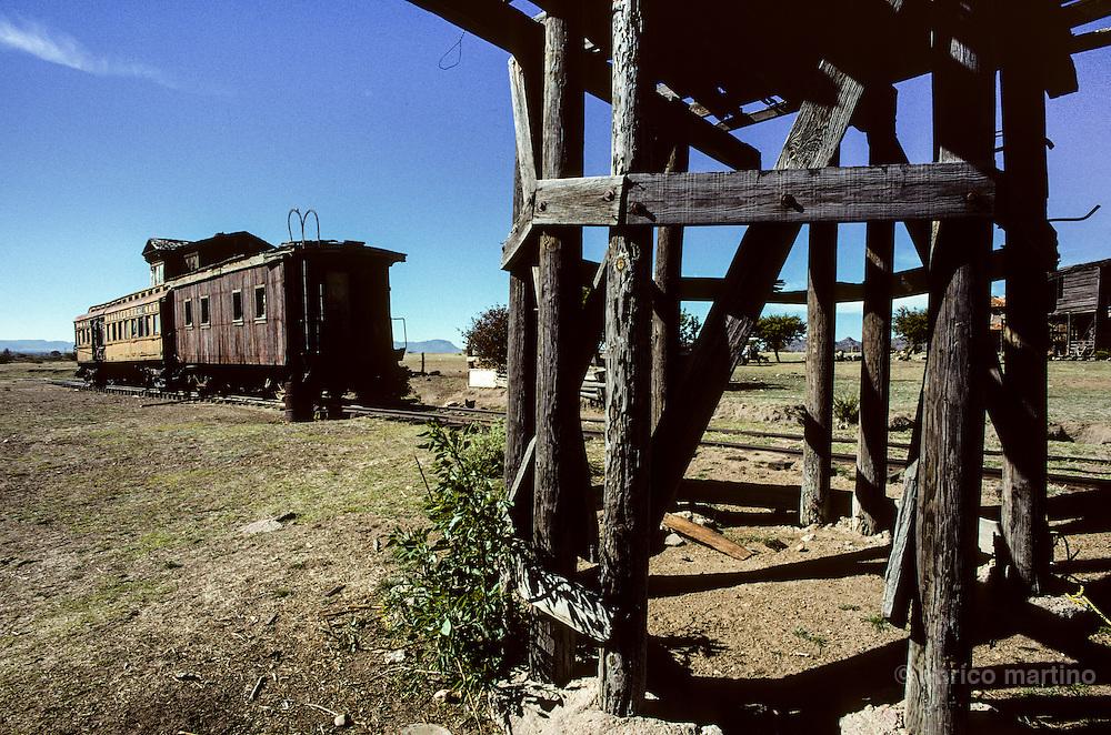 "Durango, ""La Joya"" ranch, once owned by John Wayne, utilised for many western movies. The western train of John Wayne."