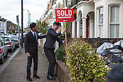 SOLD! A house of Norroy road in Putney. The owner wasn't very happy. Sam & John have been travelling around the London borough of Wandsworth selling off Land to greedy land owners. They have been erecting Sold signs at various local landmarks.