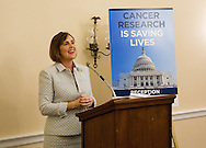 Rep. Kathy Castor (D-FL) speaks during the Hill Day reception held at Rayburn House Office Building in Washington, DC, on Wednesday, May 11, 2016. The American Association for Cancer Research (AACR), the Association of American Cancer Institutes (AACI), and the American Society of Clinical Oncology (ASCO) honored U.S. Representatives Kathy Castor (D-Fla.) and Chuck Fleischmann (R-Tenn.) for their outstanding leadership on behalf of cancer research during the reception. (Alan Lessig/)
