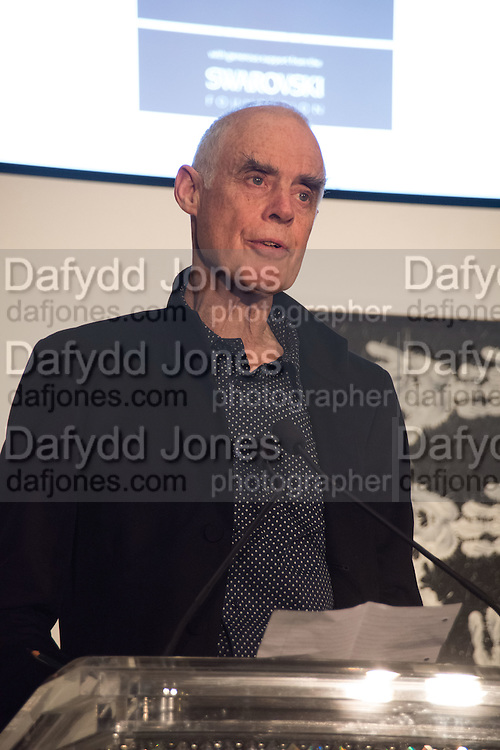 RICHARD LONG at the Whitechapel Gallery Art Icon 2015 Gala dinner supported by the Swarovski Foundation. The Banking Hall, Cornhill, London. 19 March 2015