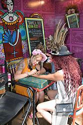 Latitude Festival, Henham Park, Suffolk, UK July 2018. Henna tattooes