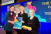 27/01/2014 SCCUL Enterprise Award<br /> Social Enterprise <br /> One To Watch <br /> Coole Music &amp; Arts Ltd. <br /> <br /> Founder, Katharina Baker and Administrator  Fiona Buckley were present with their prize by Mary Redmond(centre).<br />  <br /> <br /> Coole Music and Arts is dedicated to joyful creative and supportive music making.<br /> They work in the community providing young people and adults the opportunity to learn, enjoy and create classical music through different instruments, choirs, orchestras, chamber music, workshop, public performances and recordings.<br /> <br /> Photo:Andrew Downes