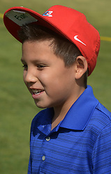July 2, 2018 - U.S. - SPORTS -- Evan Knight, 9, of Albuquerque attends a clinic given by Notah Begay III during at the New Mexico Grande Slam, a golf charity event that raises money for New Mexico's children, on Monday, July 2, 2018. (Credit Image: © Greg Sorber/Albuquerque Journal via ZUMA Wire)