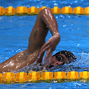 USA swimmer Ryan Lochte training with the USA team at the Aquatic Centre at Olympic Park, Stratford during the London 2012 Olympic games preparation at the London Olympics. London, UK. 23rd July 2012. Photo Tim Clayton
