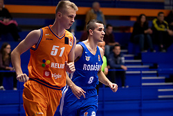Stefan Mijovic of KK Rogaska during basketball match between KK Helios Suns and KK Rogaska in ABA League Second division, on October 31, 2018 in Sports hall Domzale, Domzale, Slovenia. Photo by Urban Urbanc / Sportida