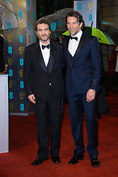 Joaquin Pheonix and Bradley Cooper during The British Academy Film Awards, The Royal Opera House, Bow Street, Covent Garden, London, WC2, Sunday February 10, 2013. Photo by Chris Joseph / i-Images. ..