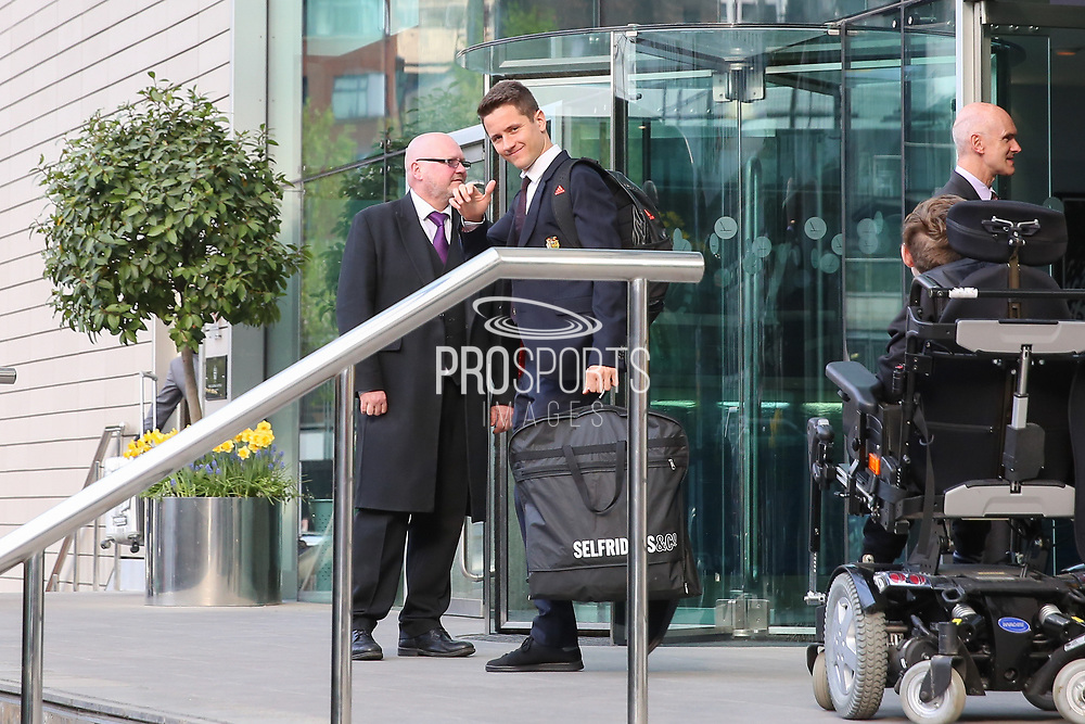 Ander Herrera Midfielder of Manchester United departs the Lowry hotel before the Manchester United vs Celta Vigo match  at Old Trafford, Manchester, United Kingdom on 11 May 2017. Photo by Phil Duncan.