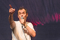 © Licensed to London News Pictures . 20/07/2013 . Suffolk , UK . The actor (and comedian ) Kevin Eldon on the Comedy Stage . The Latitude music and culture festival in Henham Park , Southwold . Photo credit : Joel Goodman/LNP