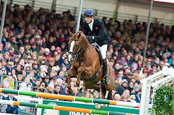 Fox Pitt William, (GBR), Chilli Morning<br /> Jumping<br /> Mitsubishi Motors Badminton Horse Trials - Badminton 2015<br /> © Hippo Foto - Jon Stroud