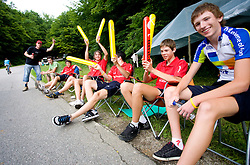 Fans at Slovenian National Championships in Road cycling, 178 km, on June 28 2009, in Mirna Pec, Slovenia. (Photo by Vid Ponikvar / Sportida)