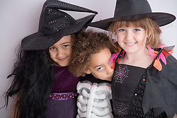 Children dressed up for Halloween,