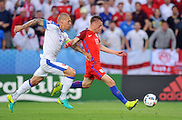 2016.06.20 Saint Etienne<br /> Pilka nozna Euro 2016<br /> mecz grupy B Slowacja - Anglia<br /> N/z Martin Skrtel Jamie Vardy<br /> Foto Norbert Barczyk / PressFocus<br /> <br /> 2016.06.20 Saint Etienne<br /> Football UEFA Euro 2016 group B game between Slovakia and England<br /> Martin Skrtel Jamie Vardy<br /> Credit: Norbert Barczyk / PressFocus