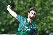 Brett Hutton during the friendly match between Nottinghamshire County Cricket Club and Northamptonshire County Cricket Club at Grantham CC, Grantham, United Kingdom on 5 July 2017. Photo by Simon Trafford.