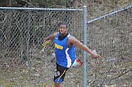 Oxford High's Carl Smith throws the discus during a track meet at Oxford High School in Oxford, Miss. on Saturday, March 13, 2010.