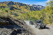 Four wheeling off road in Crystal, Colorado.
