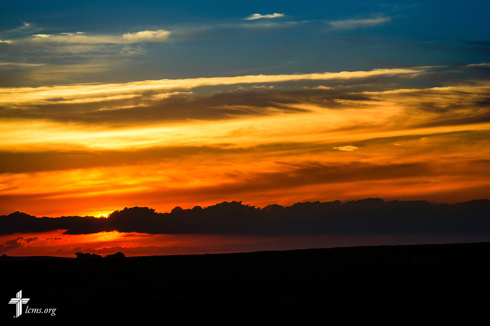 The sun sets near Mapleton, Iowa, on Saturday, July 18, 2015. LCMS Communications/Erik M. Lunsford