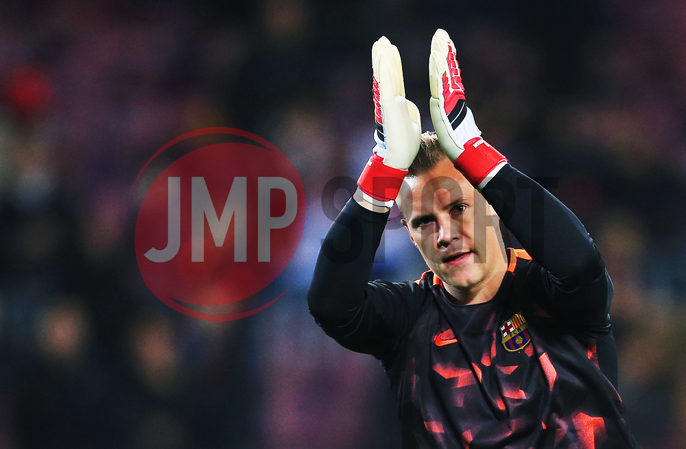 Marc-Andre ter Stegen of Barcelona acknowledges the fans - Mandatory by-line: Matt McNulty/JMP - 14/03/2018 - FOOTBALL - Camp Nou - Barcelona, Catalonia - Barcelona v Chelsea - UEFA Champions League - Round of 16 Second Leg