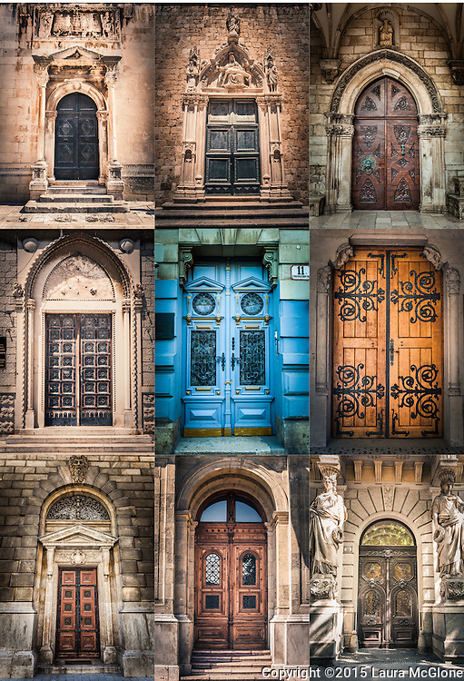 Budapest Doorway Collage