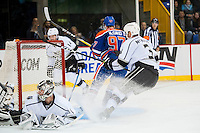 KELOWNA, CANADA - OCTOBER 2: Connor McDavid #97 of the Edmonton Oilers scores a goal against Los Angeles Kings on October 2, 2016 at Kal Tire Place in Vernon, British Columbia, Canada.  (Photo by Marissa Baecker/Shoot the Breeze)  *** Local Caption *** Connor McDavid;