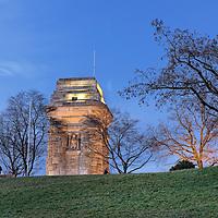 Der Bismarckturm in Stuttgart. Der Bau des Turmes wurde Anfang des Jahres 1899 von der Stuttgarter Studentenschaft (Technischen Hochschule und Kgl. Tierarzneischule in Stuttgart) initiiert.