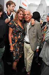 TRACEY EMIN and NICKY HASLAM at the after party for the press night of 'As I Like It' held at the home of Amanda Eliasch, 24 Cheyne Walk, London on 5th July 2011.