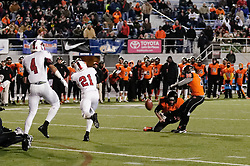 On Friday December 18, at Hersheypark Stadium, the Panthers football squad of Imhotep Institute Charter School of East Germantown/West Oak Lane, Philadelphia, PA claims an historic victory by becoming the first Philadelphia public school to win a PIAA State Championship by defeating Cathedral Prep Ramblers from erie with 40-30. (photo by Bastiaan Slabbers)