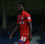 Adedeji Oshilaja during the Pre-Season Friendly match between Gillingham and Brighton and Hove Albion at the MEMS Priestfield Stadium, Gillingham, England on 29 July 2015.