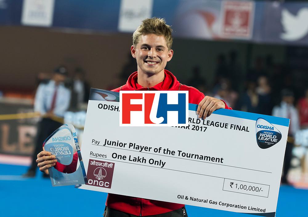 BHUBANESWAR - Victor Wegnez (Bel). Hockey World League finals , Final Australia-Argentina (2-1) . Australia wint de finale. COPYRIGHT KOEN SUYK