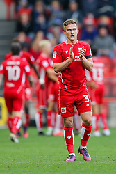 Joe Bryan of Bristol City celebrates after Aaron Wilbraham scores a goal to make it 1-0 - Rogan Thomson/JMP - 22/10/2016 - FOOTBALL - Ashton Gate Stadium - Bristol, England - Bristol City v Blackburn Rovers - Sky Bet EFL Championship.