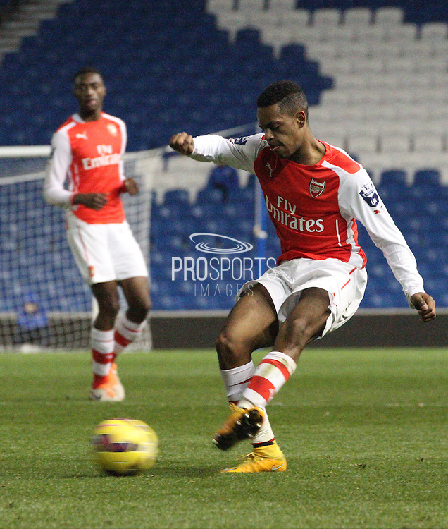 Arsenals Tyrell Robinson during the Barclays U21 Premier League match between Brighton U21 and Arsenal U21 at the American Express Community Stadium, Brighton and Hove, England on 1 December 2014.