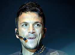 ©  licensed to London News Pictures. UK. 14/07/2011.  Peter Andre performs at The Rochester Castle Concert in Medway, Kent. He was supported by The Reason 4 from the X-factor television show. Please see special instructions. Picture credit should read Grant Falvey/LNP.