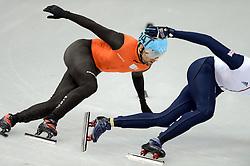 08-02-2014 SHORTTRACK: OLYMPIC GAMES: SOTSJI<br /> Niels Kerstholt weet zich niet te plaatsen voor de 1000 meter<br /> ©2014-FotoHoogendoorn.nl