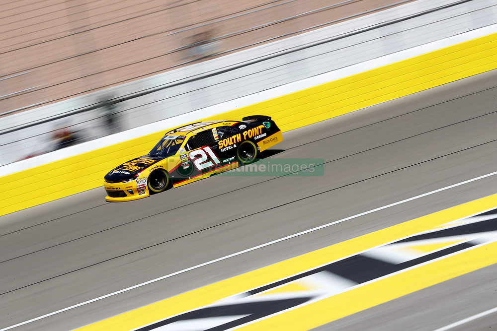 March 2, 2018 - Las Vegas, Nevada, United States of America - March 02, 2018 - Las Vegas, Nevada, USA: Daniel Hemric (21) takes to the track to practice for the Boyd Gaming 300 at Las Vegas Motor Speedway in Las Vegas, Nevada. (Credit Image: © Justin R. Noe Asp Inc/ASP via ZUMA Wire)