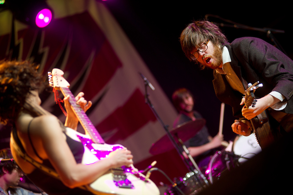 Will Sheff and Lauren Gurgiolo of Okkervil River on the Pavilion Stage @ Virgin FreeFest 2011