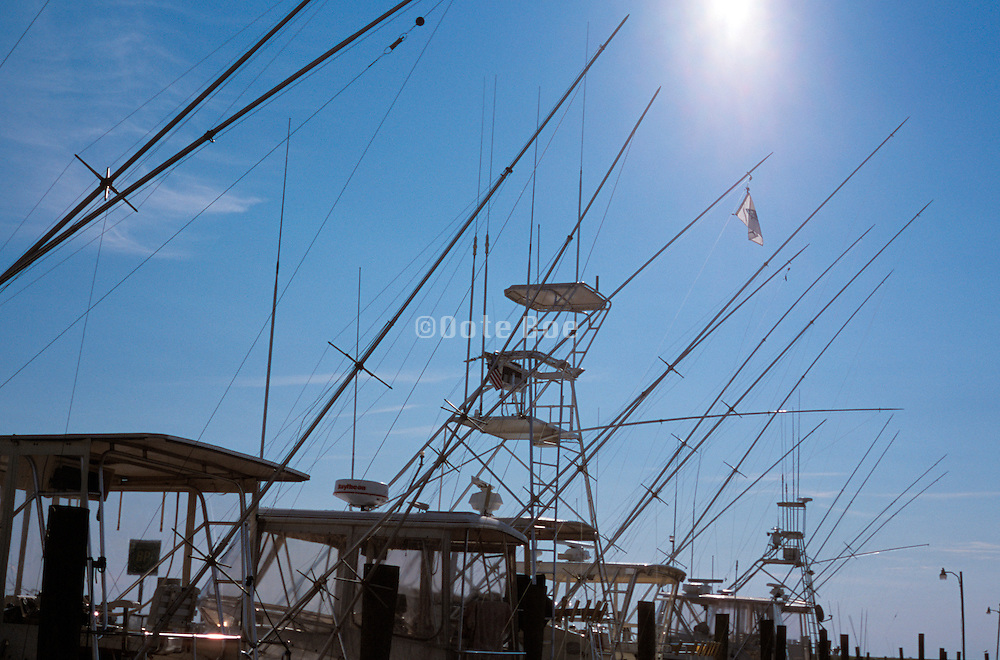 Line of fishing boats against the sky