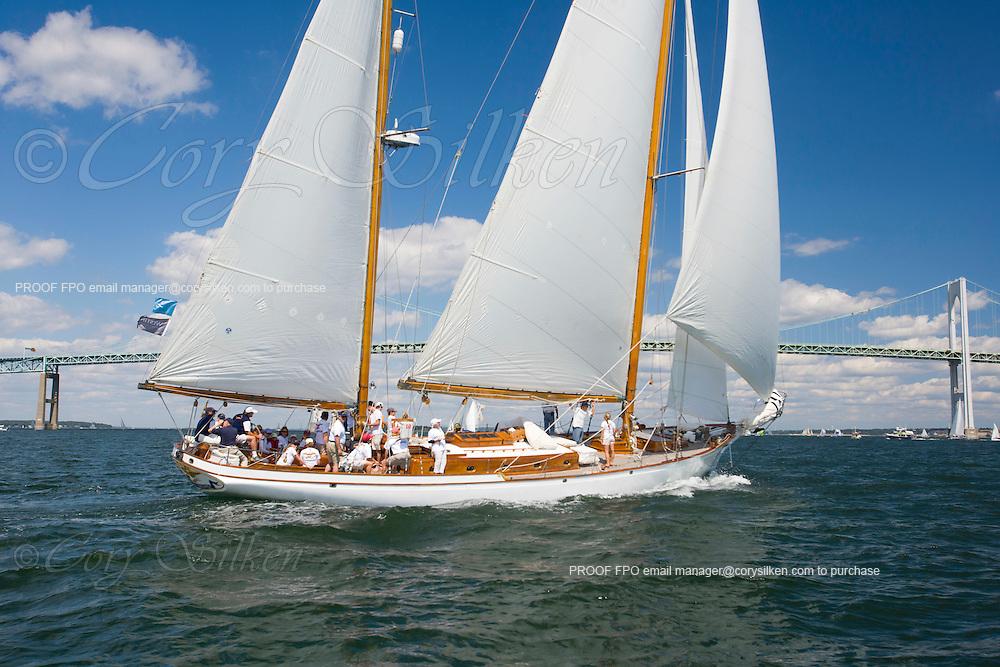 Ticonderoga racing at the Museum of Yachting Classic Yacht Regatta