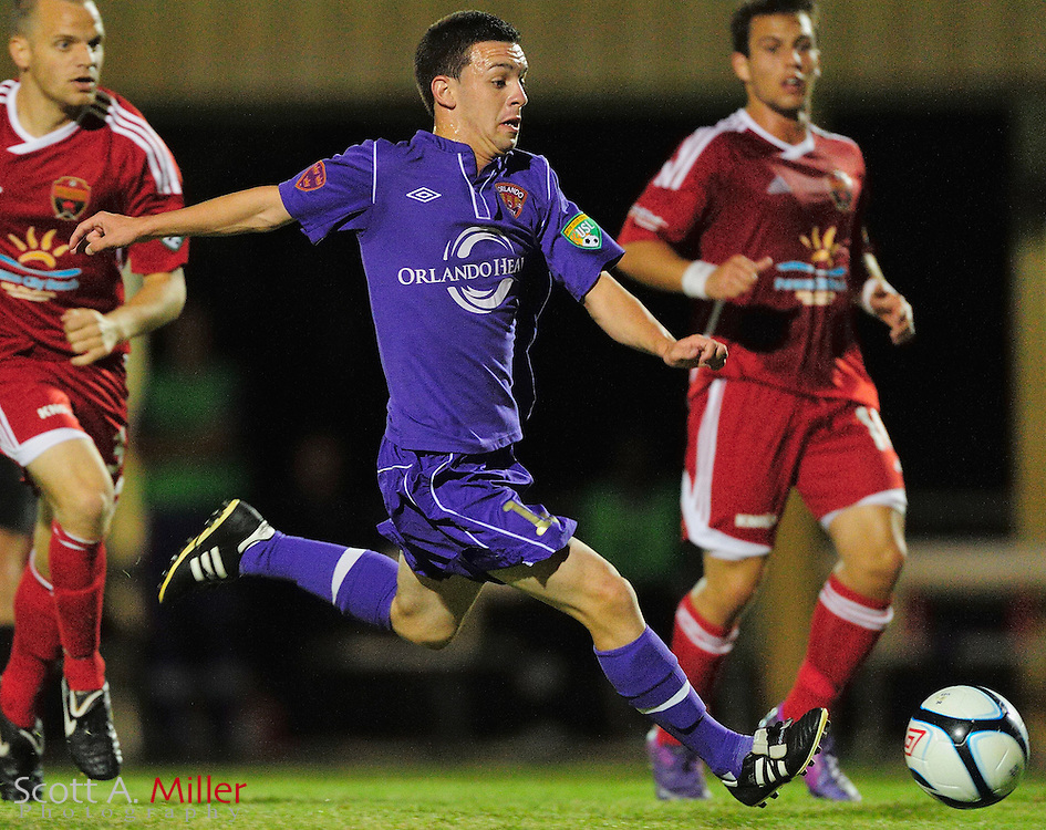 Orlando City's David Graydon (12) in action during the Lions game against the Panama City Beach Pirates in their Premier Development League game at the Seminole Soccer Complex on May 19, 2012 in Sanford, Fla. ..©2012 Scott A. Miller.