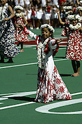 A Hawaiian dancer during the pregame show at the 2003 Pro Bowl, the NFL All-Star Game at Aloha Stadium in Hawaii on 02/02/2003. The  AFC intercepted 6 passes to defeat the NFC for the third year in a row, this time by a score of 45 to 20. ©Paul Anthony Spinelli