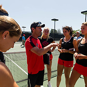 13 April 2017: The San Diego State women's tennis team hosts Fresno State at the Aztec Tennis center for Senior Day.