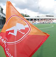 EINDHOVEN - Oranje Rood - Nijmegen.<br /> Hoofdklasse dames<br /> Foto: Oranje Rood met hoekvlag.<br /> WORLDSPORTPICS COPYRIGHT FRANK UIJLENBROEK