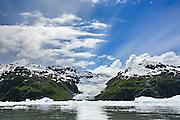 Tiger tail glacier, PRince William sound, tidewater glacier