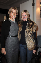 Left to right, SANTA SEBAG-MONTEFIORE and JANE YARROW at a shopping afternoon hosted by Amanda Kyme and Tamara Beckwith featuring designs from Elizabeth Hurley held at the Cadogan Hotel, 75 Sloane Street, London SW1 on 23rd November 2010.